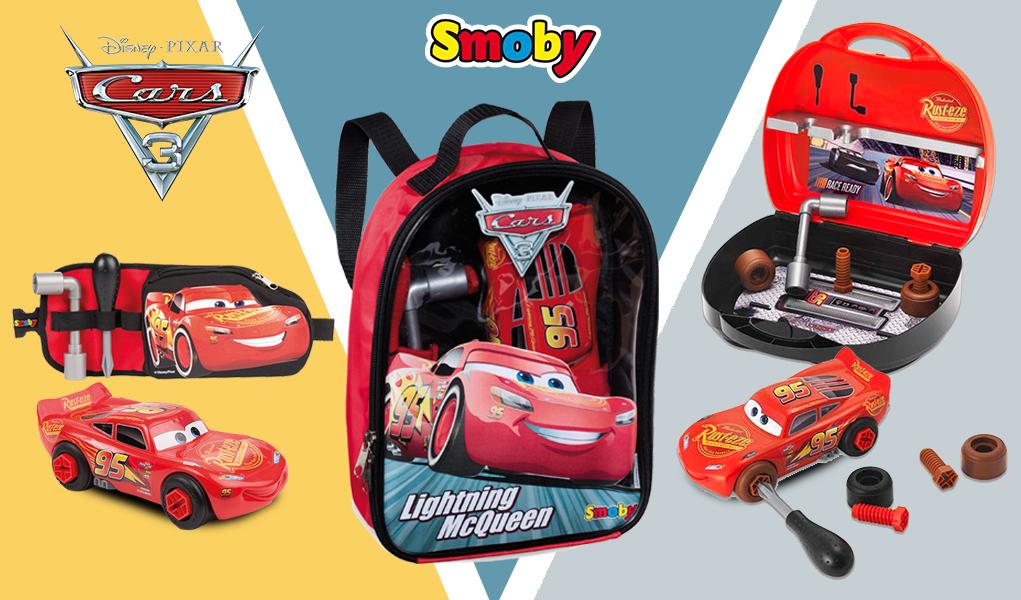 Herramientas de juguete de Cars 3  llévatelas a donde quieras - Smoby edf68fbc6bbc