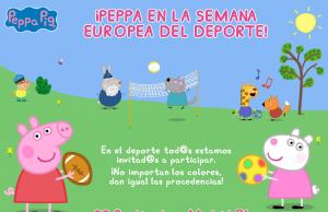 peppa pig semana deporte