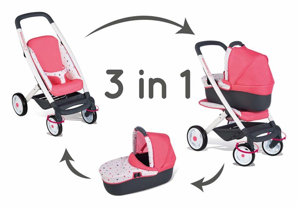 Cochecito, capazo y sillita 3en1 de Bebé Confort cochecitos Smoby