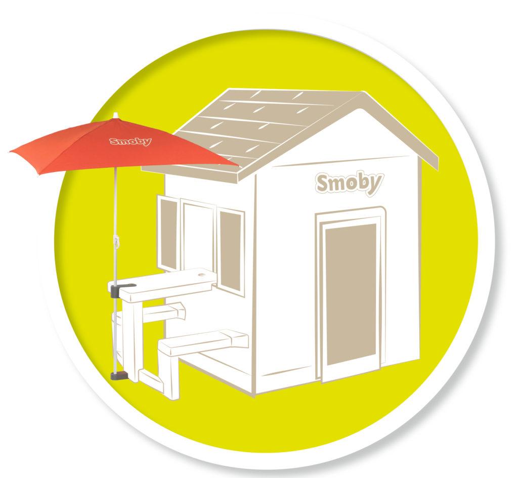 Sombrilla casitas Smoby